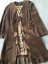 Scully copper/brown suede coat