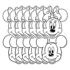 Mickey Mouse and Minnie Mouse Colour and Keep 12 pack 2D Card Fun Face Masks