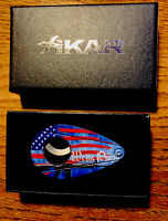 """XIKAR CIGAR CUTTER""--""WE THE PEOPLE"" - DOUBLE GUILLOTINE-NEW- USA FLAG"