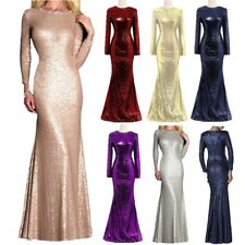 Long Sleeve Mother of the Bride Dresses Sequins Mermaid Evening Formal Gown Plus