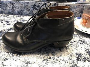 PIKOLINOS Black Leather Le Mans Ankle Bootie Boots Shoes Women's 40