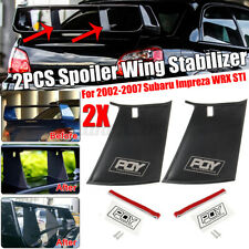 Pair Spoiler Wing Stiffi Support Stabilizer For Subaru Impreza WRX  STi 02-07