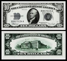 1934-C  $10 SILVER CERTIFICATE NOTE~~UNCIRCULATED