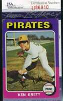 Ken Brett 1975 Topps Jsa Certed Autograph Authentic Hand Signed
