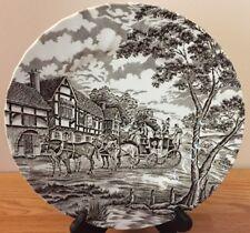 "Myott Royal Mail Brown DINNER PLATE Staffordshire china England 9.75"""