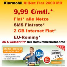 Smartphone Handy Vertrag Sim Only mit Allnet Flat Internet Flat 2GB Handyvertrag