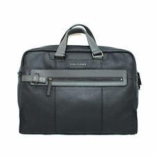 Man Woman briefcase PIQUADRO SCOTT coach bag black gray leather CA4152W83 N