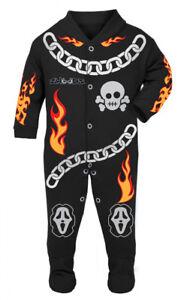 Ghost Rider Baby Biker Race Sleep Suit