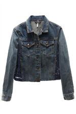 FREE PEOPLE $148 NEW 2435 Lace-Back Denim Womens Jacket XS