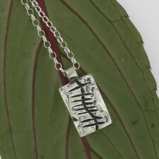 Sterling Silver Irish Made Gra Ogham Pendant Love In Gaelic Chained Gift Boxed