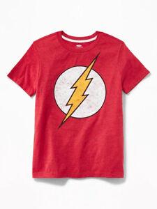 NWT Old Navy DC Comics The Flash Lightning Bolt Tees Shirt T-Shirt Boys S M L XL