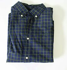 Ralph Lauren Boys Long Sleeve Plaid Poplin Shirt Blue Multi Sz 4/4T - Nwt