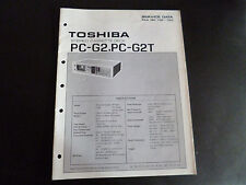 Original Service Manual Toshiba PC-G2 PC-G2T