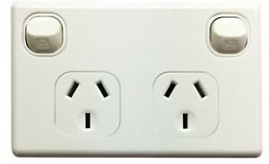 Double Power Point GPO Electrical Socket and Switch Outlet DGPO 3 Pin