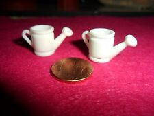2 Vintage Plastic Watering Cans Miniatures