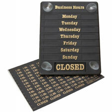 Hours of Business Sign Opening Times Open and Closed Display Notice Door Sign