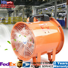 Explosion Proof Axial Fan Cylinder Pipe Spray Booth Paint Fumes Exhaust Fan 10