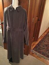 London Fog Men's Raincoat Brown Overcoat Removable Liner Brown