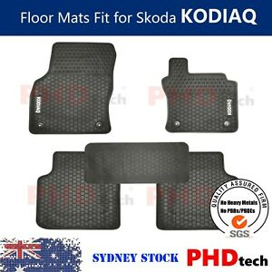 Prime Quality Rubber All Weather Car Floor Mats fit for Skoda Kodiaq 2016-2021