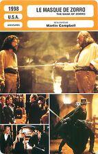 FICHE CINEMA FILM USA Le masque de Zorro / The mask of ZORRO  Martin Campbell