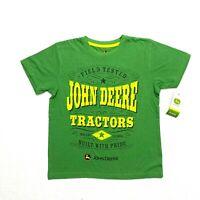 John Deere boy's green tractors t-shirt NEW size medium 10/12 short sleeve logo