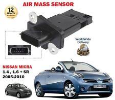 FOR NISSAN MICRA 1.4 1.6 SR K12 CK12 COUPE CABRIO 2005-2010 AIR MASS SENSOR