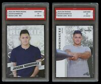 JASSON DOMINGUEZ 2019 LEAF ROOKIES + 2020 PRIZED 1ST GRADED 10 ROOKIE CARD LOT 2