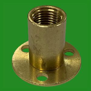 2x Brass Female Allthread Hollow Threaded Tube With Backplate Lamp Holder Socket