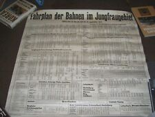 FAHRPLAN DER BAHNEN IM JUNGFRAUGEBIET 1971 POSTER RAILWAY TIMETABLE SWITZERLAND