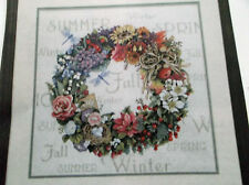 """WREATH OF ALL SEASONS Counted Cross Stitch Kit - Dimensions -18 Ct -14"""" x 13.4"""""""