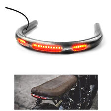 New 230mm Cafe Racer Seat Frame Hoop Loop End Brat Large CC With LED Brake Light