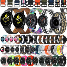 For Samsung Galaxy Watch 3 41mm 45mm S3 Stainless Steel Leather Wrist Band Strap