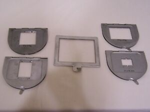 PHOTO ENLARGER NEGATIVE CARRIERS 35mm - 4X5 Lot