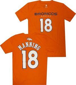 Denver Broncos Peyton Manning Youth Boys 8-20 Performance Premium Shirt Closeout
