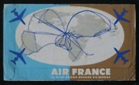 Pochette billet AIR FRANCE 1958 avion Le plus grand réseau du monde