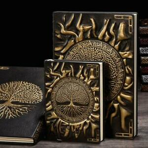 Embossed Life Tree Leather Retro Vintage Journal Notebook Lined Paper Diary