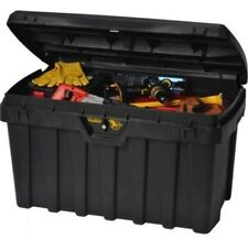 "Large Black Tuff Bin Heavy Duty Keyed Lock Tool Box Security Locking Storage 36"""