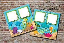 Aquarium Fun Sea Ocean 2 PRINTED Premade Scrapbook Pages BLJgraves 33