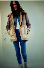 NEW ASOS Women's/Girl's Faux Shearling Coat in Patchwork ,Size US 4, $113