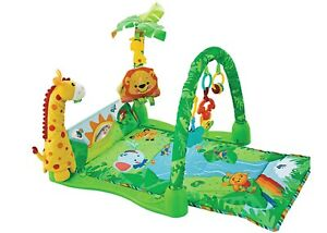 Colourful  Baby Playmat Fun Jungle Safari Animal Play Floor Mat & Sensory Toys