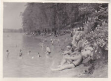 1950s RARE Nude muscle men women on beach gay interest Russian Soviet photo