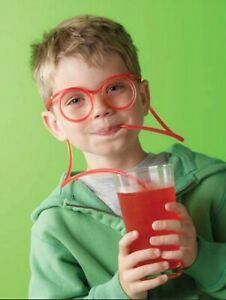 Juice Straw glasses funny design safe non toxic plastic kids gift