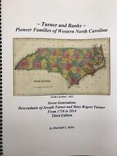 Turner & Banks Pioneer Families in North Carolina genealogy Yancey Haywood WNC
