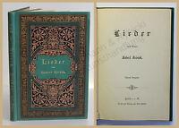 Reinick Lieder um 1898 Lyrik Dichtkunst Gedichte dekorativer Einband xy