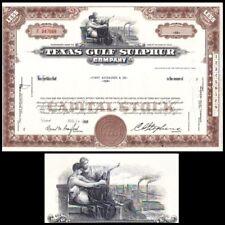 Texas Gulf Sulphur TX 1968 Stock Certificate