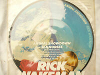 "RICK WAKEMAN ANIMAL SHOWDOWN / SEA HORSES 7"" picture disc / amsp 7436 45 rpm"