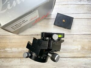 Linhof 3D Micro Leveling Geared Head Boxed With Right Angle Device RARE EXC++