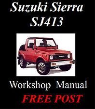 Suzuki Sierra Sj413 Factory Workshop Service Repair Manual on CD - The Best