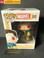 MARVEL X-MEN UNMASKED CYCLOPS FUNKO POP VINYL BOBBLE-HEAD #89 VAULTED - NEW