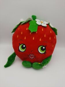 "Shopkins Strawberry Kiss Plush Pillow Stuffed Toy Room Decoration 10"""